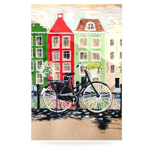 KESS InHouse Bicycle by Christen Treat Painting Print Plaque