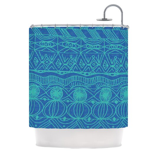 KESS InHouse Beach Blanket Confusion Polyester Shower Curtain