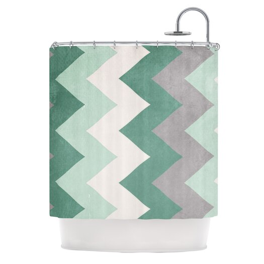 KESS InHouse Winter Polyester Shower Curtain