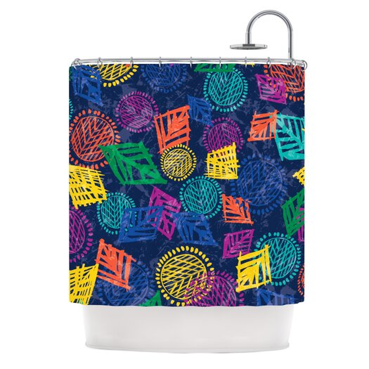 KESS InHouse African Beat Polyester Shower Curtain