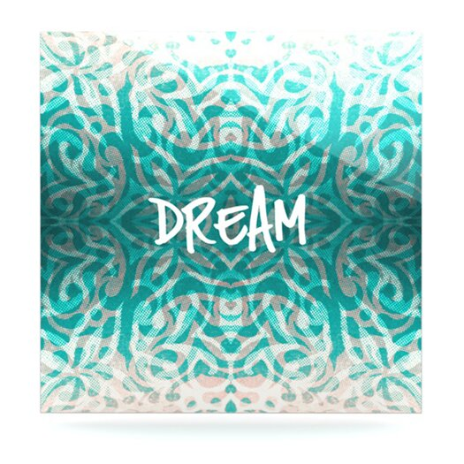 KESS InHouse Tattooed Dreams by Caleb Troy Textual Art Plaque