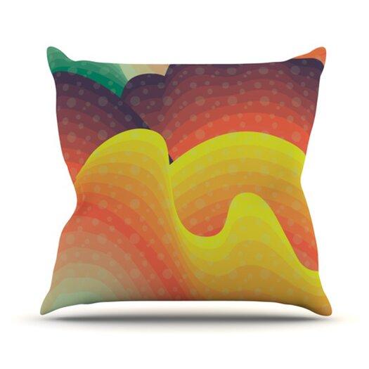 KESS InHouse Waves, Waves Throw Pillow