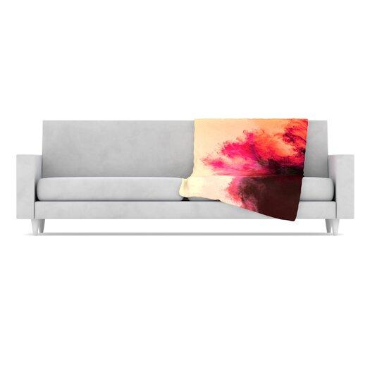 KESS InHouse Painted Clouds II Microfiber Fleece Throw Blanket