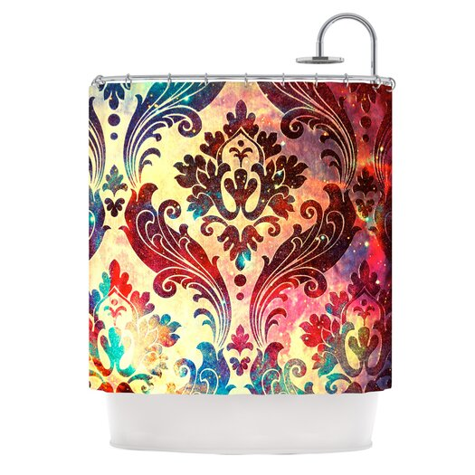 KESS InHouse Galaxy Tapestry Polyester Shower Curtain