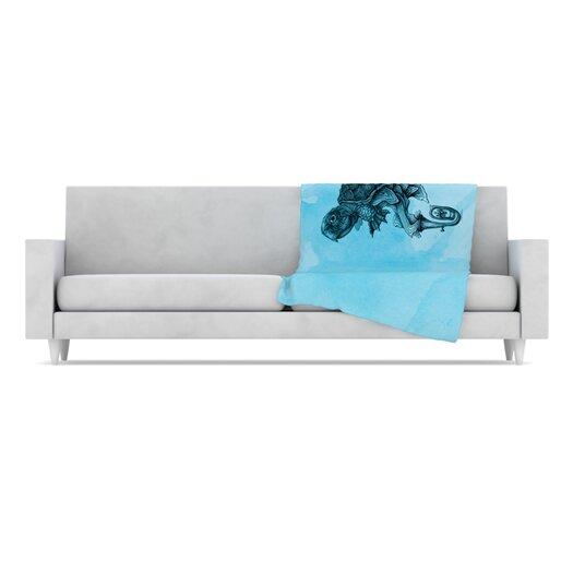 KESS InHouse Turtle Tuba III Microfiber Fleece Throw Blanket