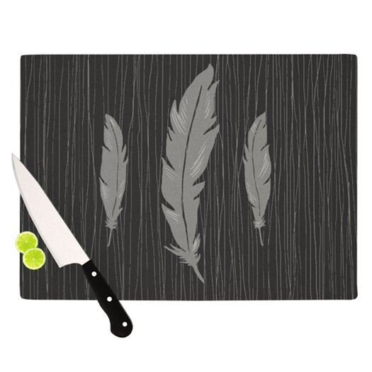 KESS InHouse Feathers Cutting Board