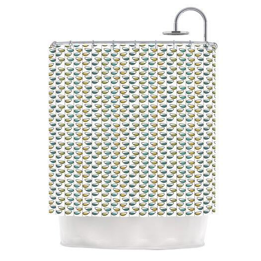 KESS InHouse Spring Stem Polyester Shower Curtain