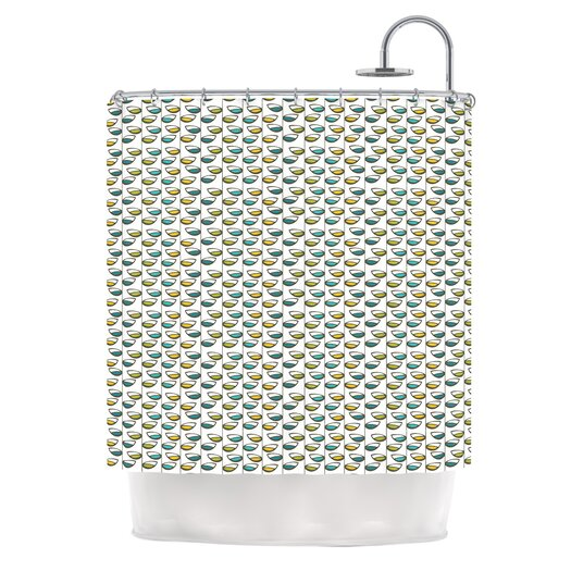 KESS InHouse Spring Stem Polyester Shower Curtain