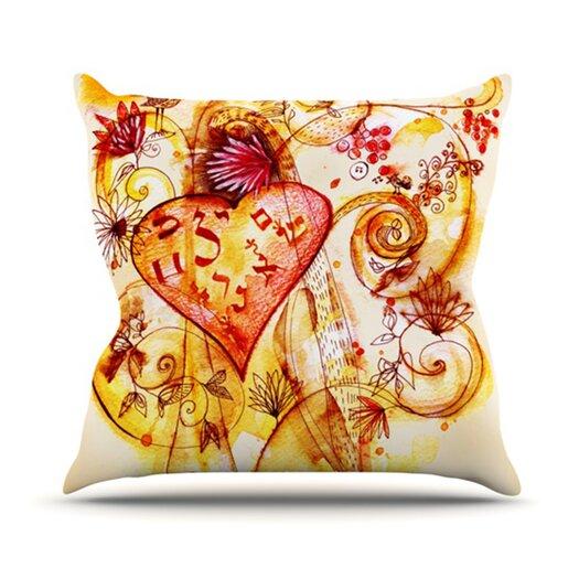 KESS InHouse Tree of Love Throw Pillow