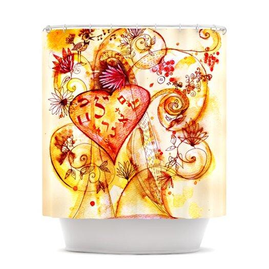KESS InHouse Tree of Love Polyester Shower Curtain