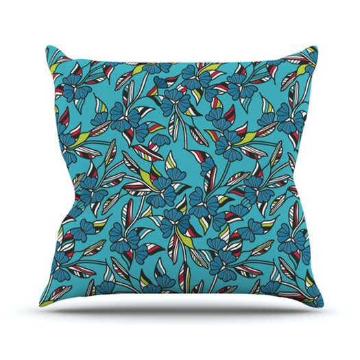 KESS InHouse Paper Leaf Throw Pillow