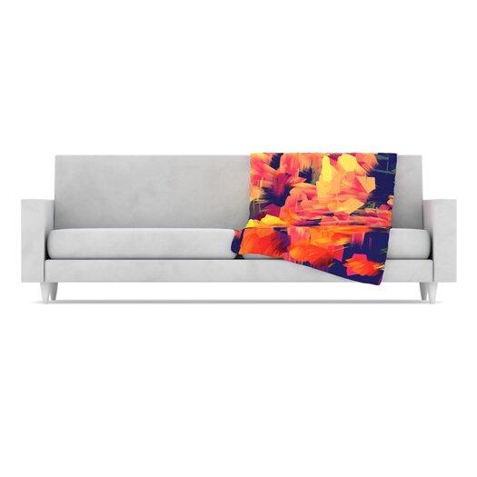 KESS InHouse Geo Flower Microfiber Fleece Throw Blanket