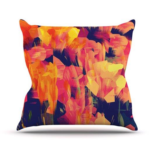KESS InHouse Geo Flower Throw Pillow