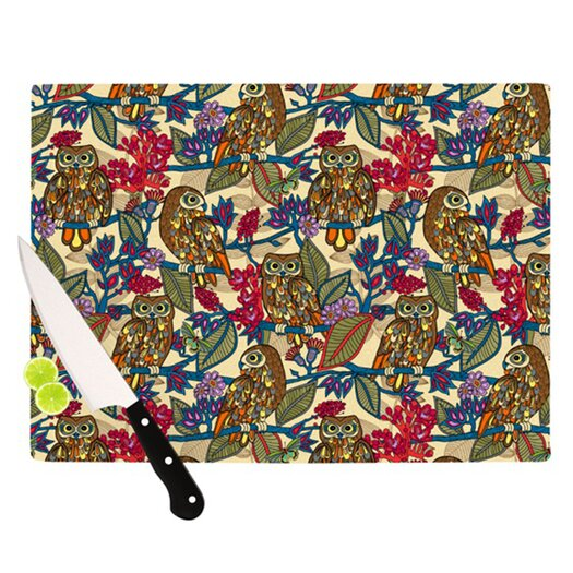 KESS InHouse My Boobooks Owls Cutting Board