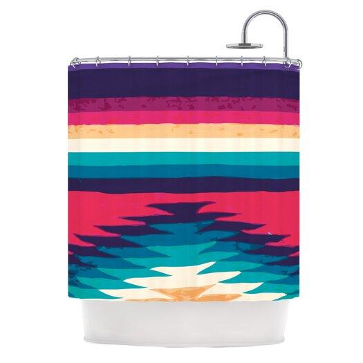 KESS InHouse Surf Polyester Shower Curtain