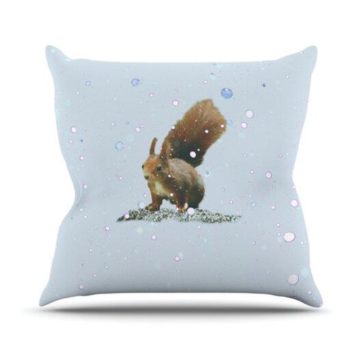 KESS InHouse Squirrel Throw Pillow