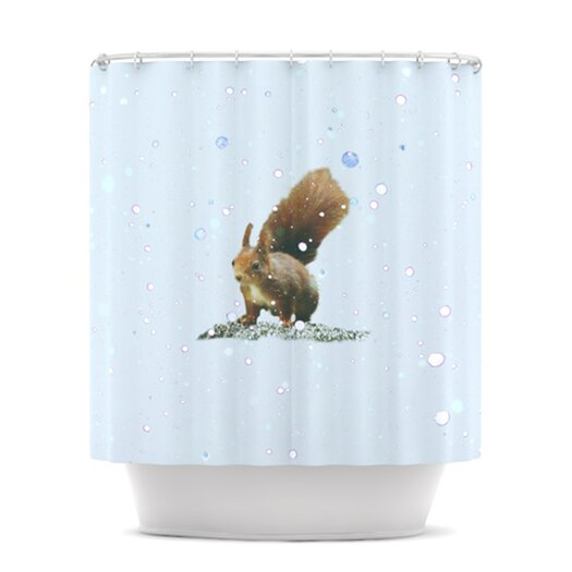 KESS InHouse Squirrel Polyester Shower Curtain