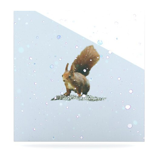 KESS InHouse Squirrel by Monika Strigel Photographic Print Plaque
