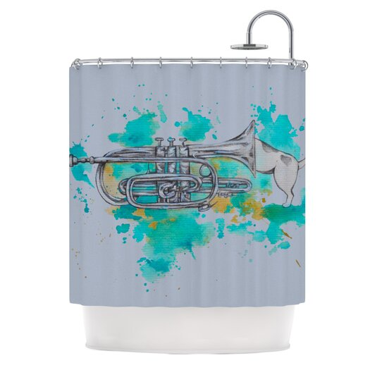 KESS InHouse Hunting for Jazz Polyester Shower Curtain