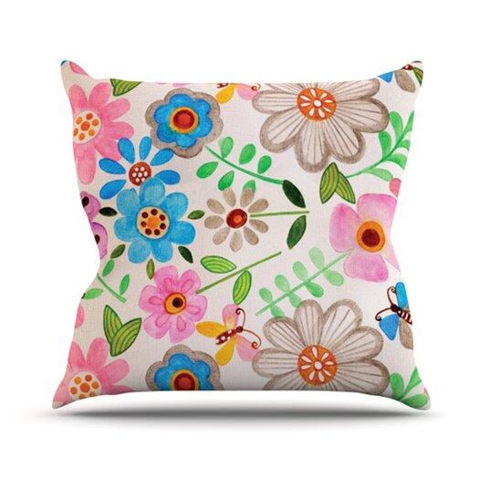 KESS InHouse The Garden Throw Pillow