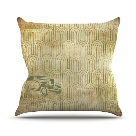 KESS InHouse Deco Car Throw Pillow