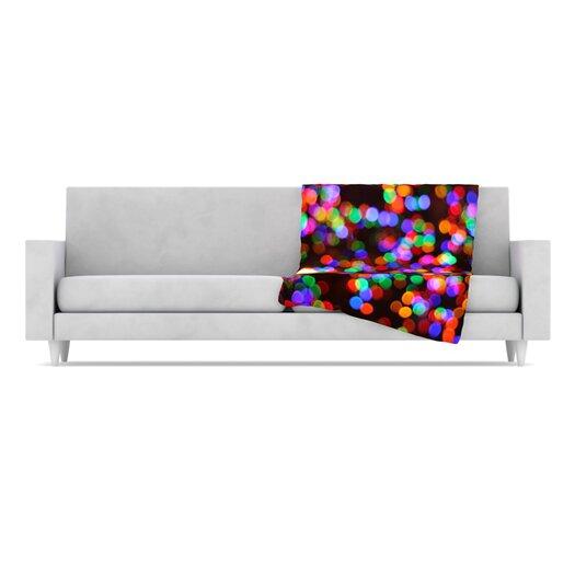 KESS InHouse Lights II Fleece Throw Blanket