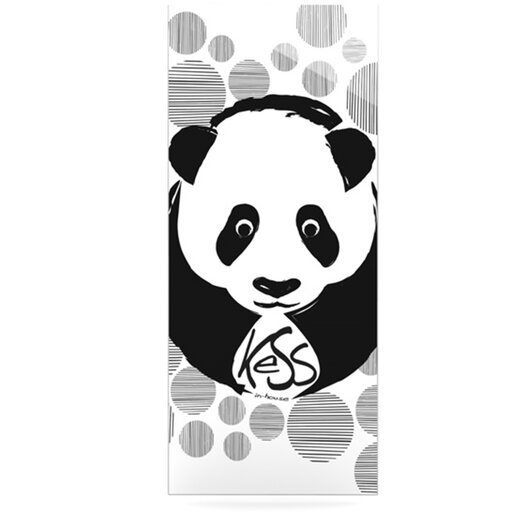 KESS InHouse Panda by Original Graphic Art Plaque