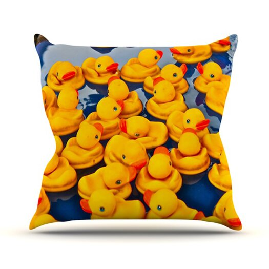 KESS InHouse Duckies Throw Pillow