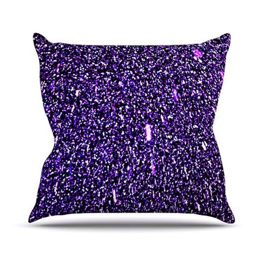 KESS InHouse Purple Dots Throw Pillow