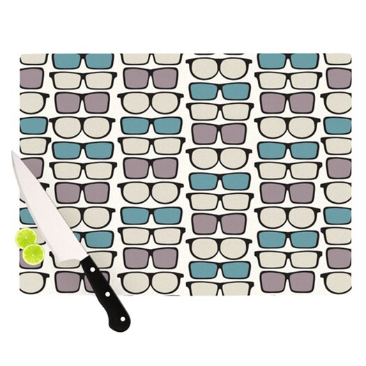 KESS InHouse Spectacles Geek Chic Cutting Board