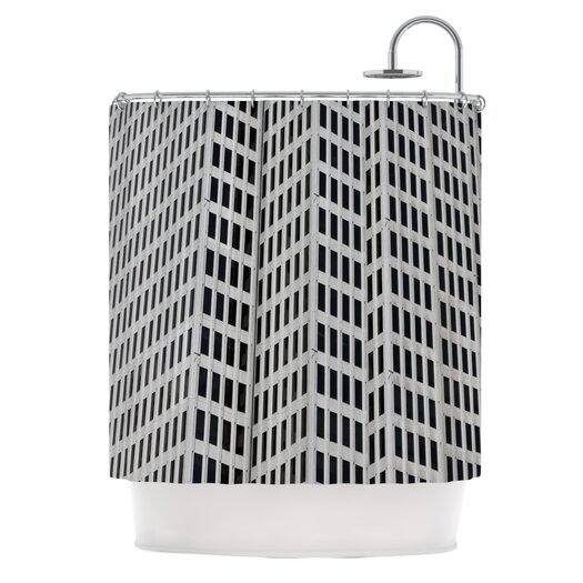 KESS InHouse The Grid Polyester Shower Curtain