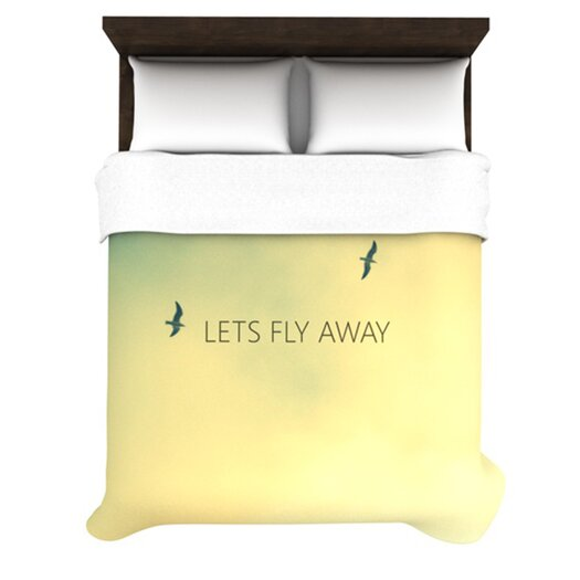 KESS InHouse Let's Fly Away Duvet Cover