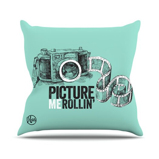 KESS InHouse Picture Me Rollin Throw Pillow