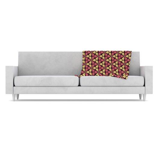 KESS InHouse Infinite Flowers Fleece Throw Blanket