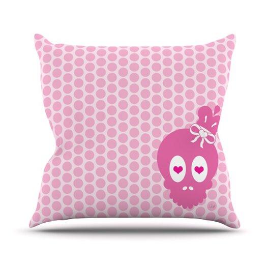 KESS InHouse Skull Throw Pillow