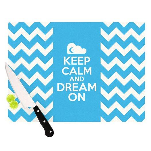 KESS InHouse Keep Calm Cutting Board