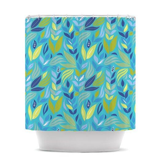 KESS InHouse Underwater Bouquet Polyester Shower Curtain