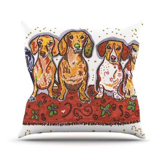 KESS InHouse Maksim Murray Enzo Ruby & Willy  Throw Pillow