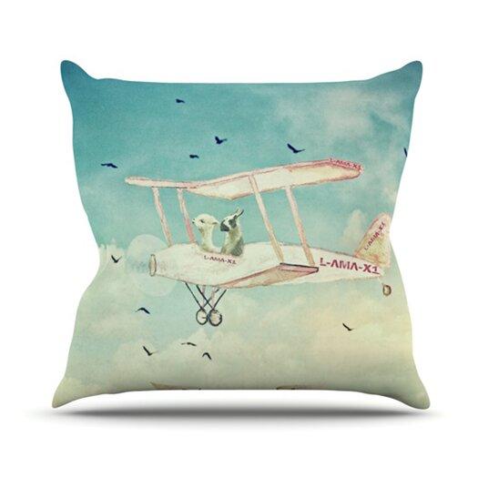 KESS InHouse Never Stop Exploring II Throw Pillow