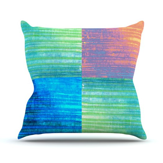 KESS InHouse Crayon Batik Throw Pillow