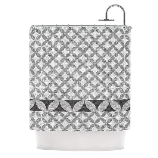 KESS InHouse Diamond Polyester Shower Curtain