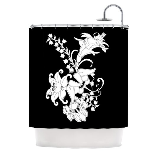 KESS InHouse My Garden Polyester Shower Curtain