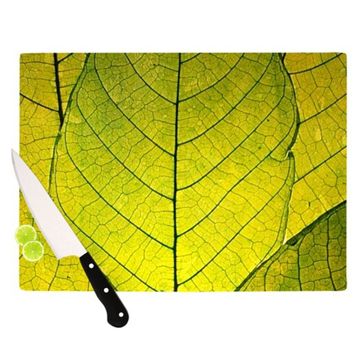 KESS InHouse Every Leaf a Flower Cutting Board