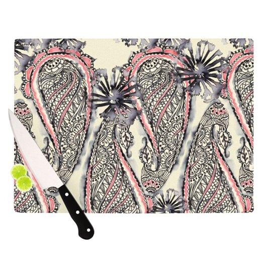 KESS InHouse Inky Paisley Bloom Cutting Board