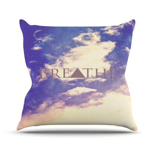 KESS InHouse Breathe Throw Pillow