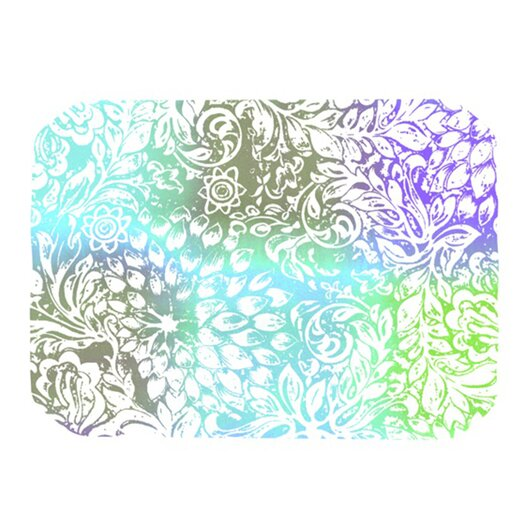 KESS InHouse Blue Bloom Softly for You Placemat