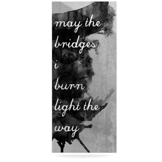 KESS InHouse Bridges by Skye Zambrana Textual Art Plaque