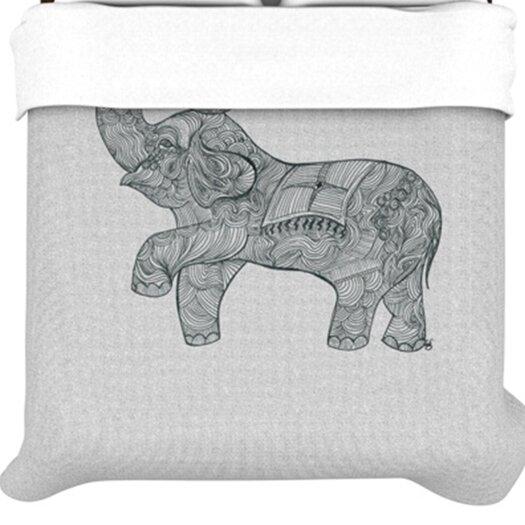 KESS InHouse Elephant Duvet