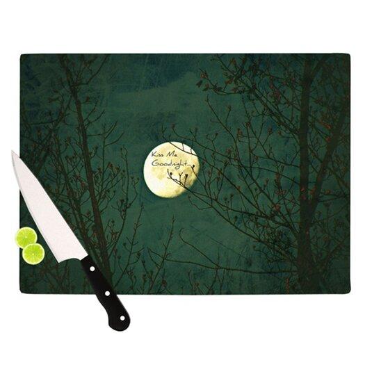 KESS InHouse Kiss Me Goodnight Cutting Board