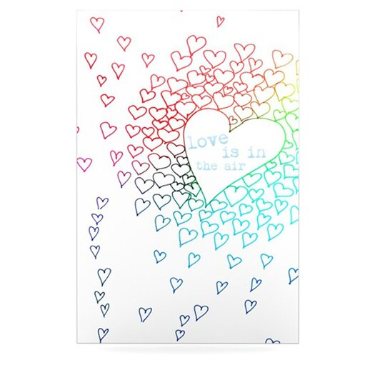 KESS InHouse Rainbow Hearts by Monika Strigel Graphic Art Plaque